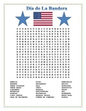 La Bandera- Flag Day in Spanish- Word Search and Double Puzzle