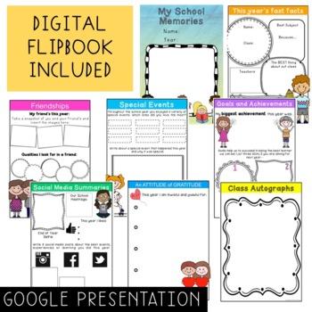 End of Year Flipbook - School Year Memories - Digital - Writing