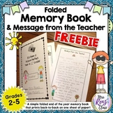 End of Year Memory Book * Memory Book Foldable *  FREEBIE!