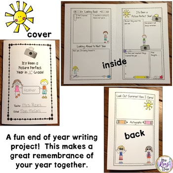 End of Year Memory Book - Folded Memory Book  FREEBIE!
