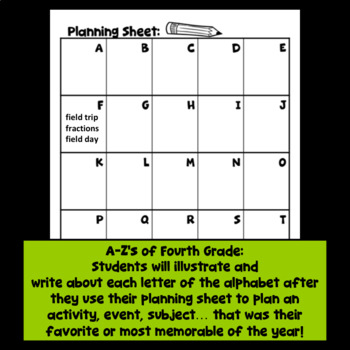 End of Year Fourth Grade Activity