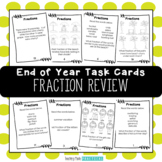 End of Year Math Activity -  Fraction Task Cards