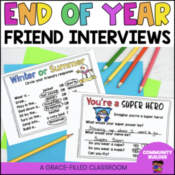 End of Year: Friend Interview Mini-Book {1st-3rd grade}