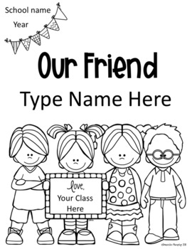 End of Year Friendship Book Student Gift Freebie