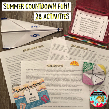 End of Year Fun Bundle: Countdown Activities and Emoji Memory Book