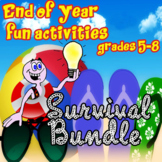 END of YEAR MIDDLE SCHOOL ELA ACTIVITIES BUNDLE- THREE WEEKS OF FUN!