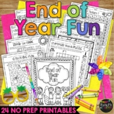 End of Year Fun Summer Activity Packet K, 1, 2 BEACH THEME, Crossword