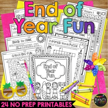 Crossword End Of Year Fun Summer Activity Packet BEACH THEME
