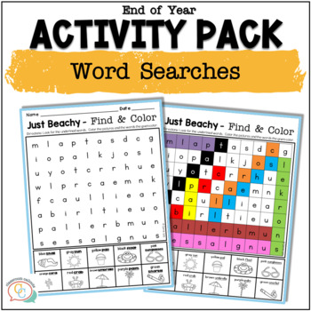 End of Year Activities for Literacy and Math {Summer Packet}