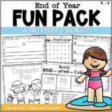 End of Year Activities for Literacy and Math | Summer Packet |