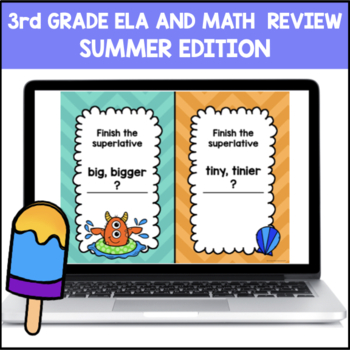End of Year 3rd Grade ELA and Math (PowerPoint Game)