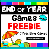 Free End of Year Math and Literacy Games: Summer Activities Packet