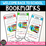 Back to School Gift Bookmarks - Editable
