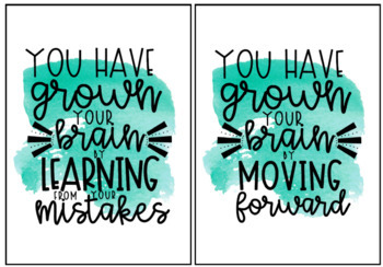 End of Year Gift Growth Mindset