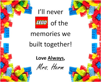 End of Year Gift Message / LEGO