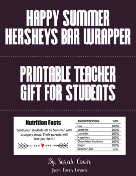 End of Year Gift - Printable Teacher Gift to Students