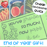 End of Year Gift: Seed Packets Printable