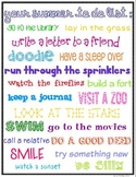 End of Year Gift - Student Summer To Do List (FREE)