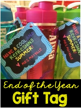 End of the Year Gift Tag-{EDITABLE}