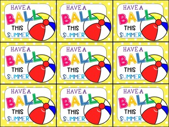 graphic regarding Have a Ball This Summer Free Printable known as Contain A Ball This Summer season Printable Tag Worksheets TpT