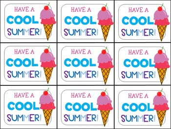 End of Year Gift Tag (Have a Cool Summer)