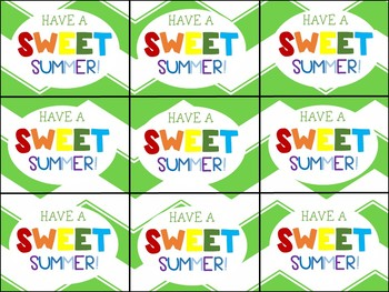 End of Year Gift Tag (Have a Good Summer Smarty Pants)