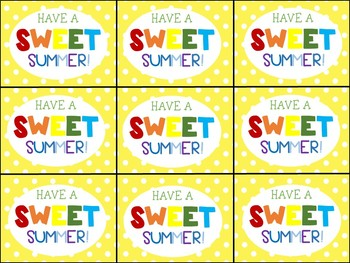 End of Year Gift Tag (Have a Jolly Summer)