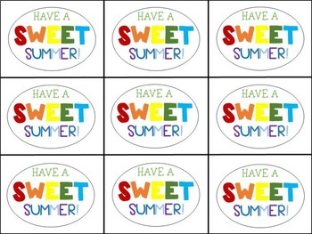 End of Year Gift Tag (Have a Sweet Summer-Candy)