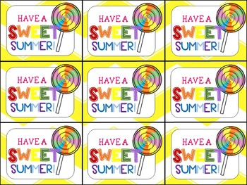 picture regarding Have a Sweet Summer Printable called Finish of Calendar year Present Tag (Contain a Cute Summer season-Lollipop)