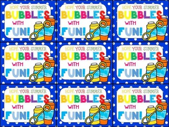 End of Year Gift Tag (Hope Your Summer Bubbles with Fun)