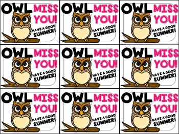 graphic relating to Owl Miss You Printable named Owl Skip Oneself Tags Worksheets Schooling Elements TpT