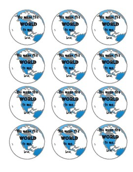 End of Year Gift Tag- You Mean the World to Me