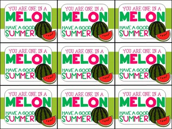 End of Year Gift Tag (You are One in a Melon)