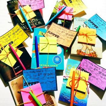 End of Year Gift Tag for Book