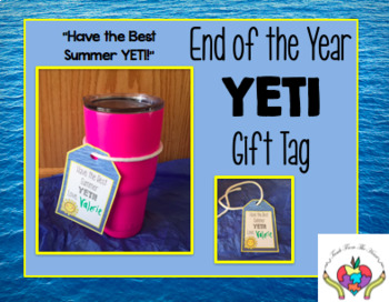 End of Year Gift Tag for YETI CUP
