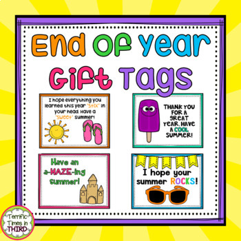End of Year Student Gift Tags