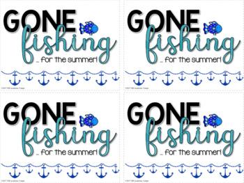 #EOYgiftsforbigkids End of Year Gift Tags - Gone Fishing