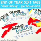 #EOYgiftsforbigkids End of Year Gift Tags - Gone Fishing