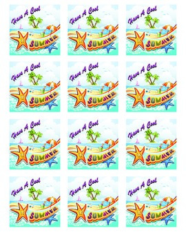 """End of Year Gift Tags """"Have A Cool Summer"""" FREE"""