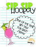 End of Year Gift Tags- Sip Sip Hooray