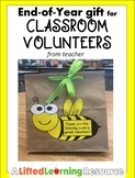 End-of-Year Gift for Classroom Volunteers from Teacher