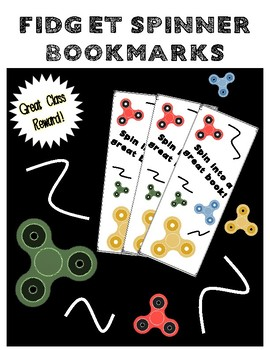 Fidget Spinner Bookmarks - Great Classroom Prizes