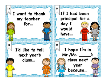 End of Year Give-a-Speech Task Cards