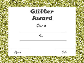 End of Year Glitter Awards: Edible