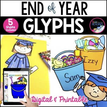 End of Year Craft: End of Year Glyphs & Summer Vacation Glyphs ~ 5 total
