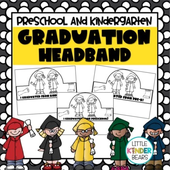 End of Year Graduation Headbands for Preschool & Kindergarten