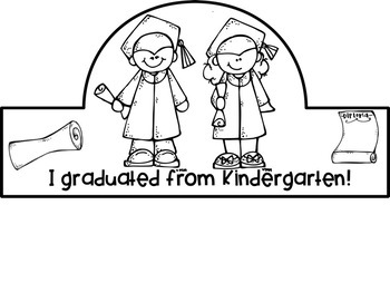 End of Year Graduation Headbands for Preschool & Kindergarten