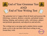 End of Year Grammar and Writing Test
