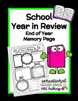 End of Year Graphic Organizer- Memories