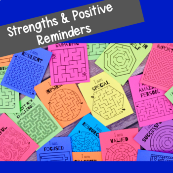 """End of Year """"Have an A-MAZE-Ing Summer"""" Affirmation Maze Cards"""
